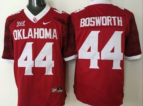 Sooners #44 Brian Bosworth Red New XII Stitched NCAA Jersey