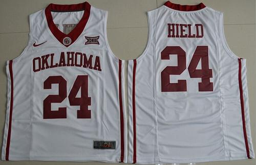 Sooners #24 Buddy Hield White Basketball New XII Stitched NCAA Jersey