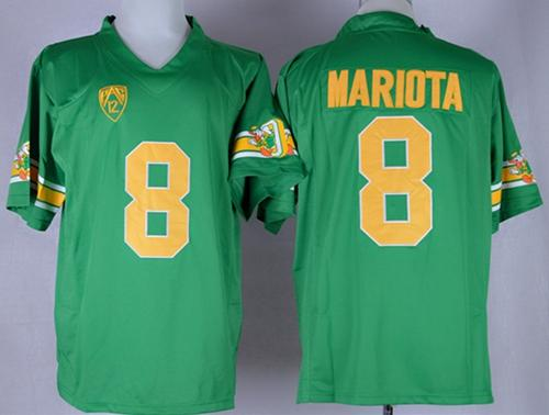 Ducks #8 Marcus Mariota Green 1994 Throwback Stitched NCAA Jersey