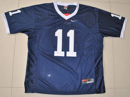 Nittany Lions #11 Navy Blue Stitched NCAA Jersey