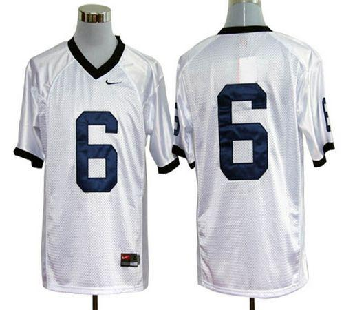 Nittany Lions #6 White Stitched NCAA Jersey