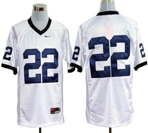 Nittany Lions #22 White Stitched NCAA Jersey