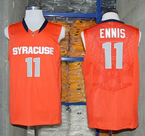 Orange #11 Tyler Ennis Orange Basketball Stitched NCAA Jersey