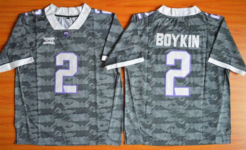 Horned Frogs #2 Trevone Boykin Grey Stitched NCAA Jersey