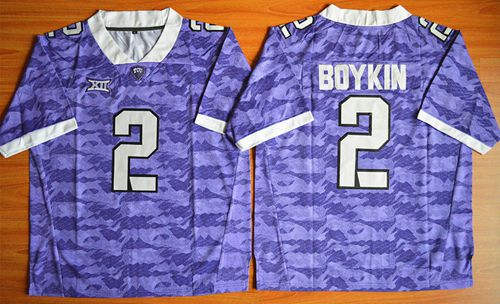 Horned Frogs #2 Trevone Boykin Purple Stitched NCAA Jersey