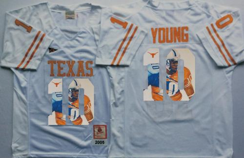 Longhorns #10 Vince Young White Player Fashion Stitched NCAA Jersey