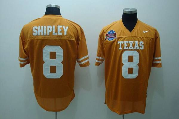 Longhorns #8 Jordan Shipley Orange Stitched NCAA Jersey