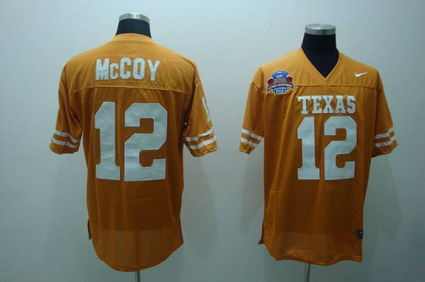 Longhorns #12 Colt McCoy Orange Stitched NCAA Jersey