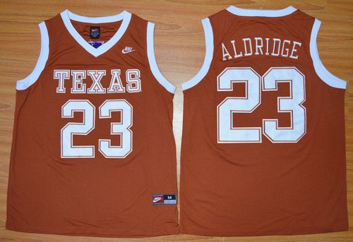Longhorns #23 LaMarcus Aldridge Orange Basketball Stitched NCAA Jersey