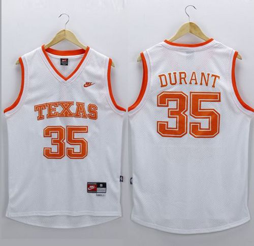 Longhorns #35 Kevin Durant White New Stitched NCAA Jersey