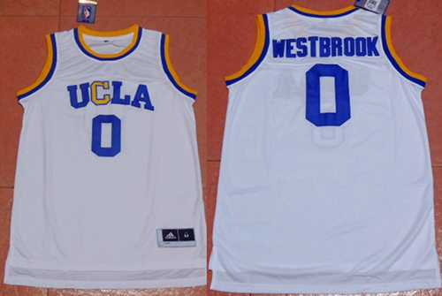 Bruins #0 Russell Westbrook White Basketball Stitched NCAA Jersey