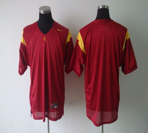 Trojans Blank Red Stitched NCAA Jersey
