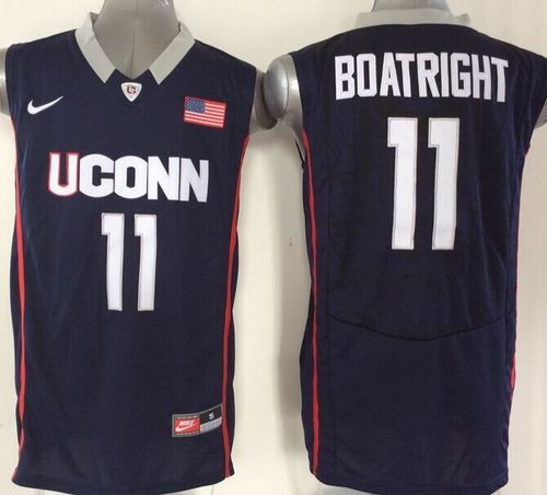 Huskies #11 Ryan Boatright Navy Blue Basketball Stitched NCAA Jersey