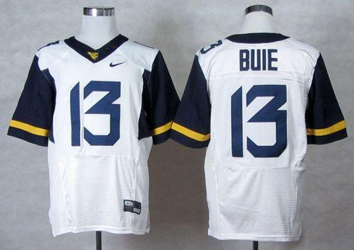 Mountaineers #13 Andrew Buie White Stitched NCAA Jersey
