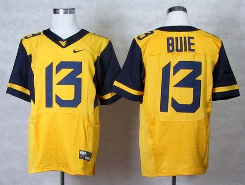 Mountaineers #13 Andrew Buie Gold Stitched NCAA Jersey