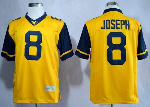 Mountaineers #8 Karl Joseph Gold Limited Stitched NCAA Jersey