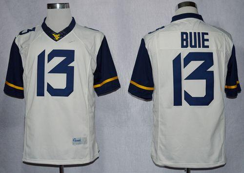 Mountaineers #13 Andrew Buie White Limited Stitched NCAA Jersey