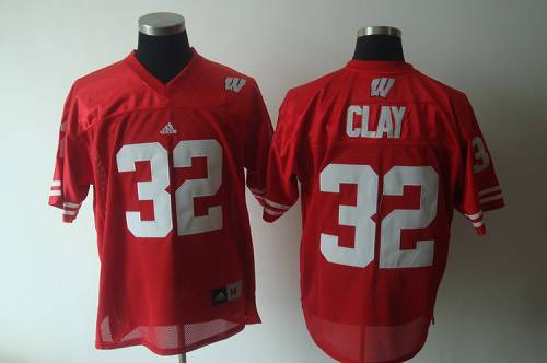 Badgers #32 Red Stitched NCAA Jersey
