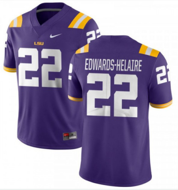 LSU Tigers #22 Clyde Edwards-Helaire Purple Limited Stitched NCAA Jersey
