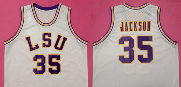 Men's LSU Tigers #35 Chris Jackson Limited Stitched NCAA Jersey