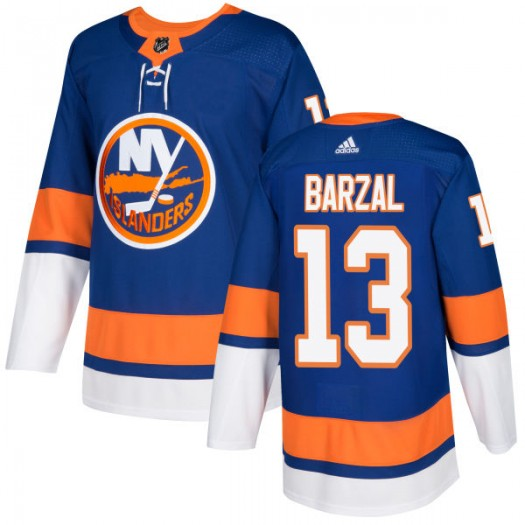 Men's Adidas New York Islanders #13 Mathew Barzal Royal Stitched NHL Jersey