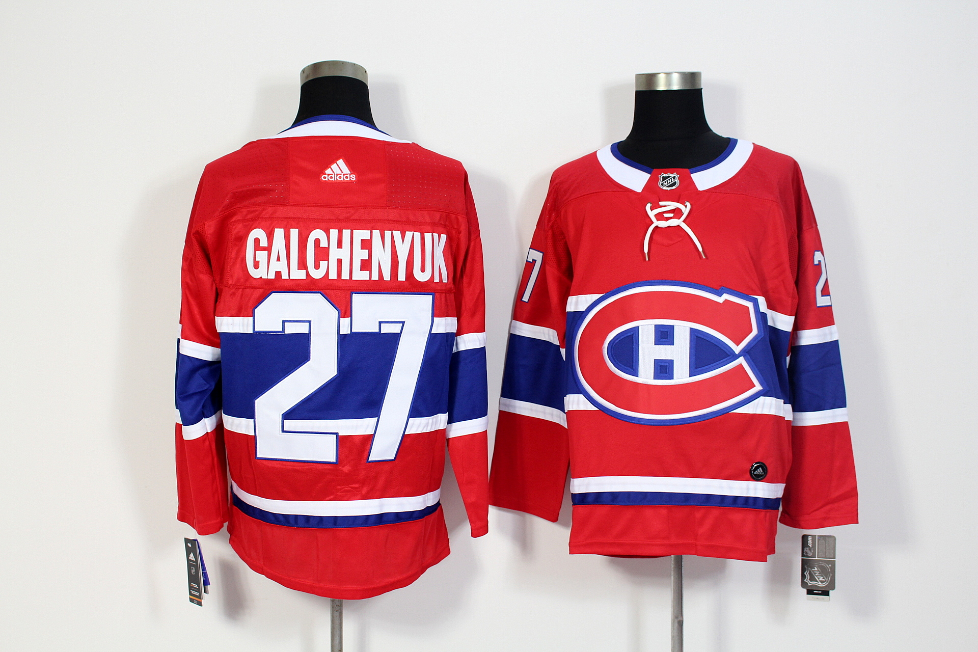 Men's Adidas Montreal Canadiens #27 Alex Galchenyuk Red Stitched NHL Jersey