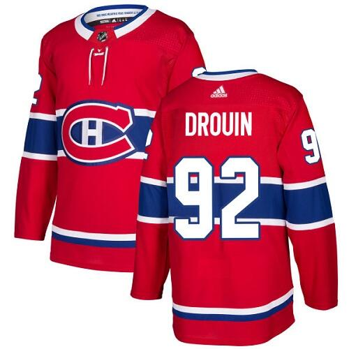 Men's Adidas Montreal Canadiens #92 Jonathan Drouin Red Stitched NHL Jersey