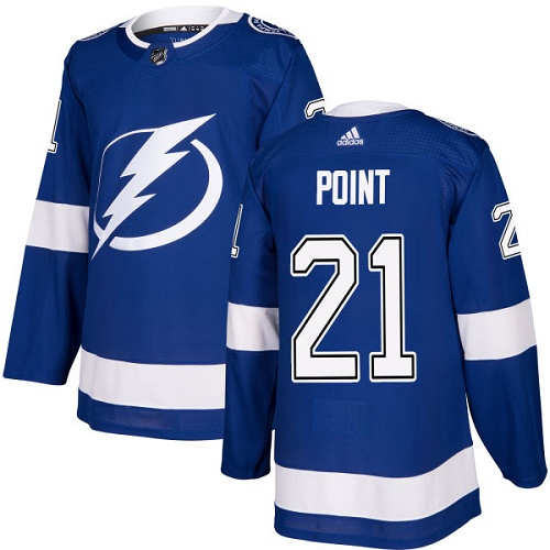 Men's Adidas Tampa Bay Lightning #21 Brayden Point Blue Stitched NHL Jersey