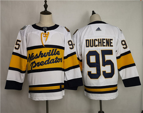 Men's Adidas Nashville Predators #95 Matt Duchene White Stitched NHL Jersey
