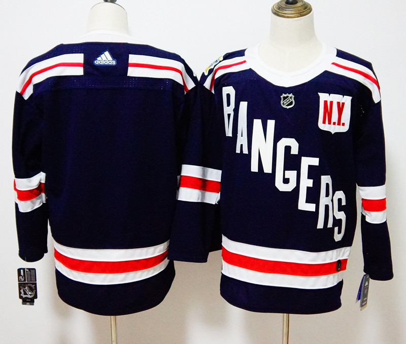 Men's Adidas New York Rangers Navy 2018 Winter Classic Authentic Stitched NHL Jersey
