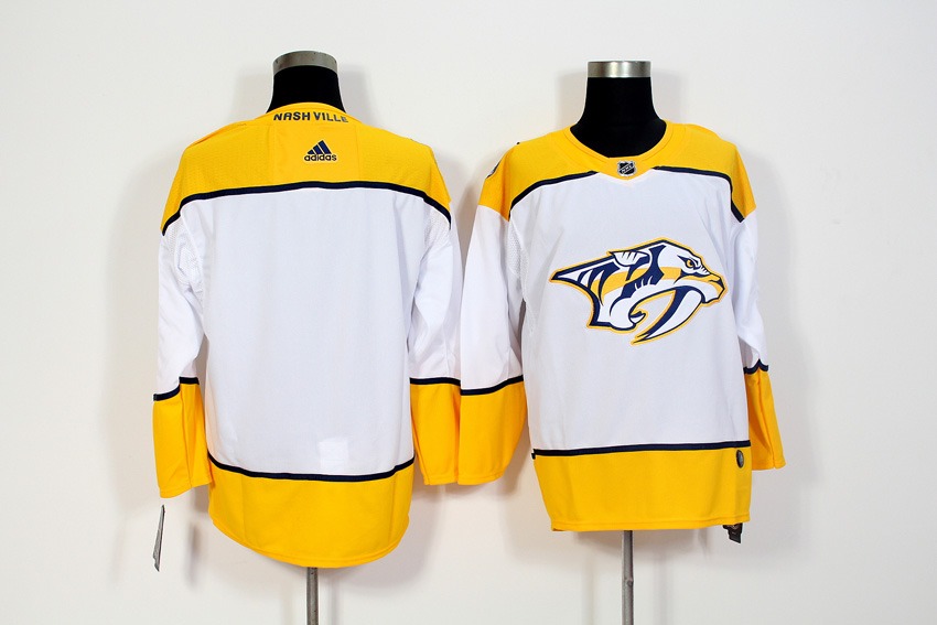 Men's Adidas Nashville Predators White Stitched NHL Jersey