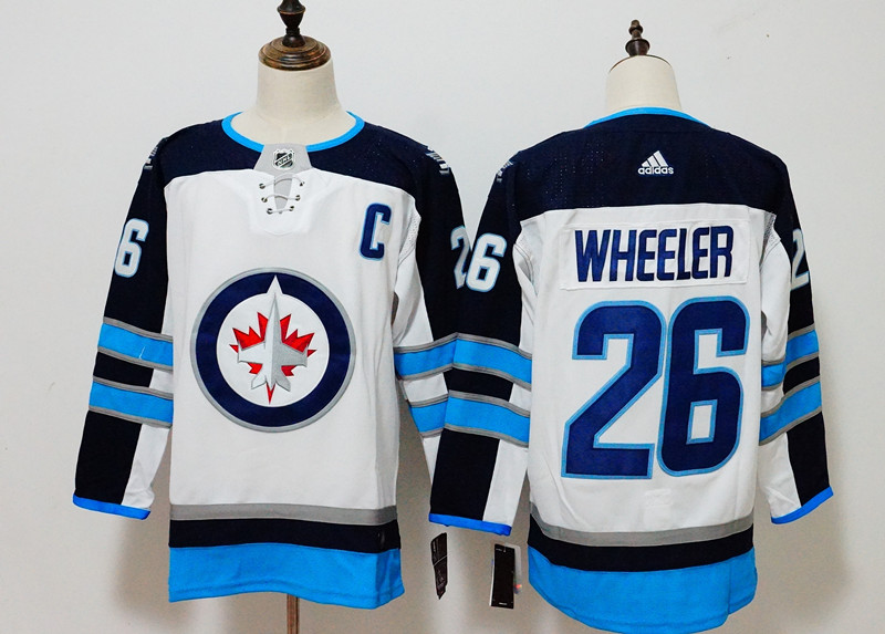Men's Adidas Winnipeg Jets #26 Blake Wheeler White Stitched NHL Jersey