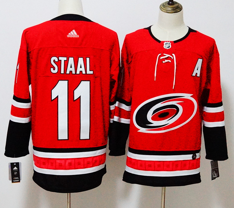 Men's Adidas Carolina Hurricanes #11 Jordan Staal Red Stitched NHL Jersey