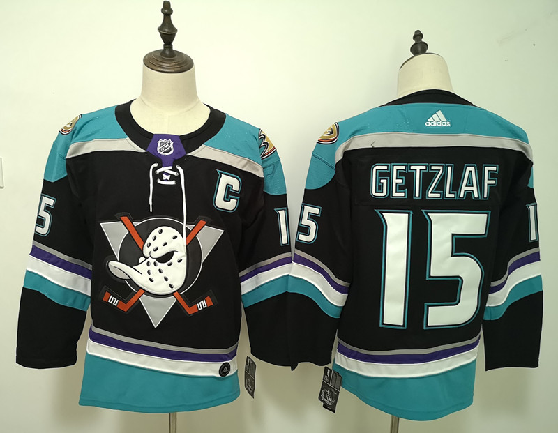 Men's Adidas Anaheim Ducks #15 Ryan Getzlaf Black Stitched NHL Jersey
