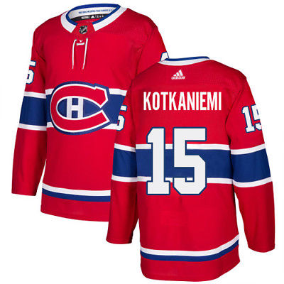 Men's Adidas Montreal Canadiens #15 Jesperi Kotkaniemi Red Stitched NHL Jersey