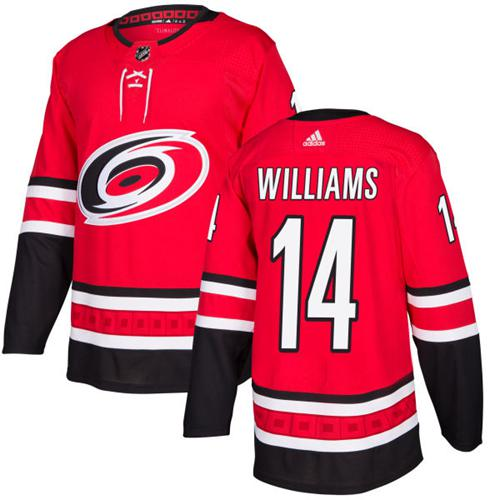 Men's Adidas Carolina Hurricanes #14 Justin Williams Red Stitched NHL Jersey