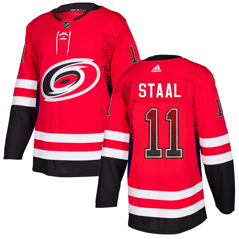 Men's Carolina Hurricanes #11 Jordan Staal Red Drift Fashion Stitched NHL Jersey