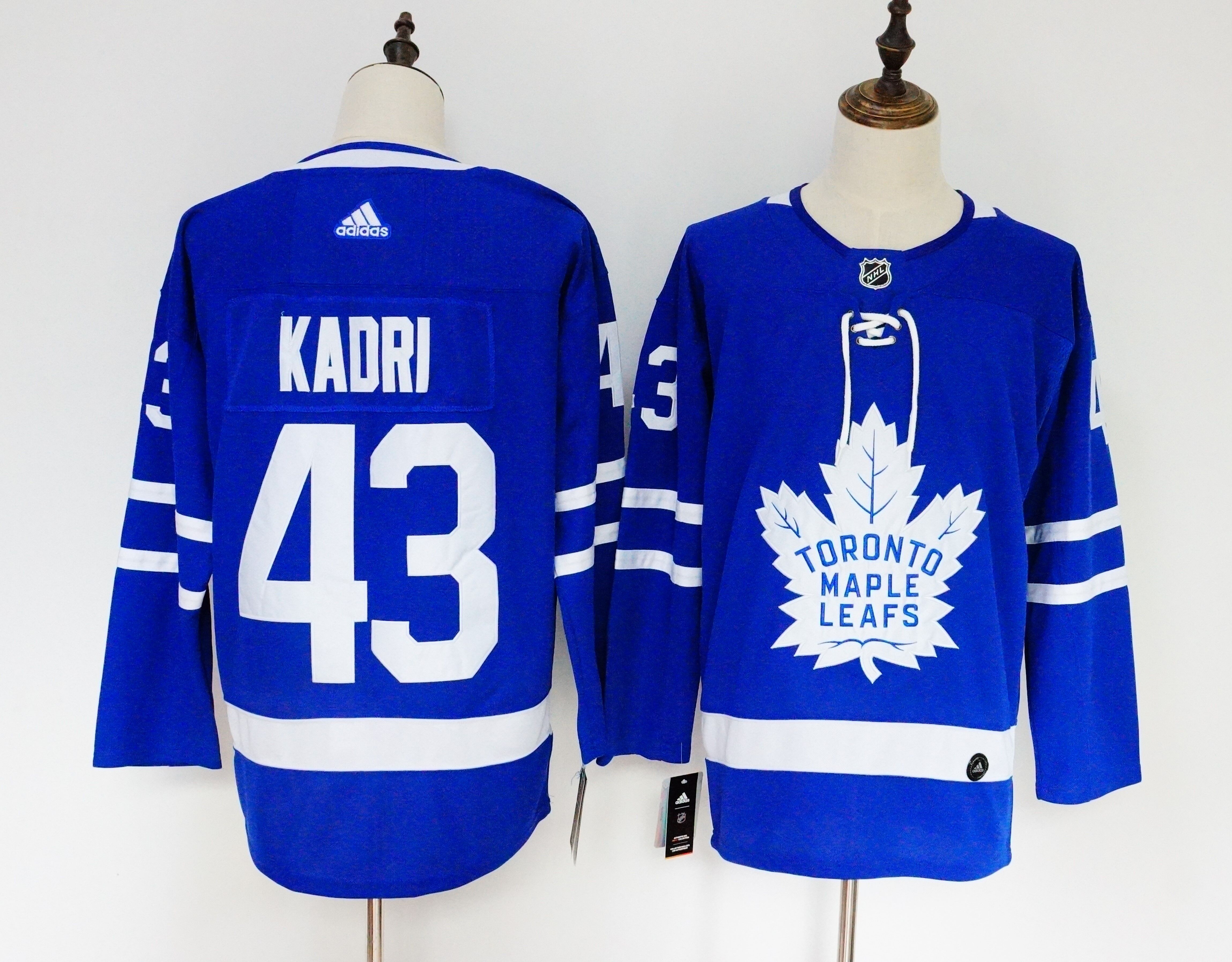 Men's Adidas Toronto Maple Leafs #43 Nazem Kadri Blue Stitched NHL Jersey