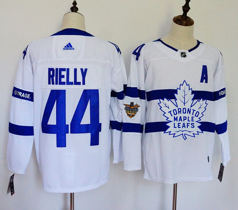 Men's Adidas Toronto Maple Leafs #44 Morgan Rielly White 2018 NHL Stadium Series Stitched NHL Jersey
