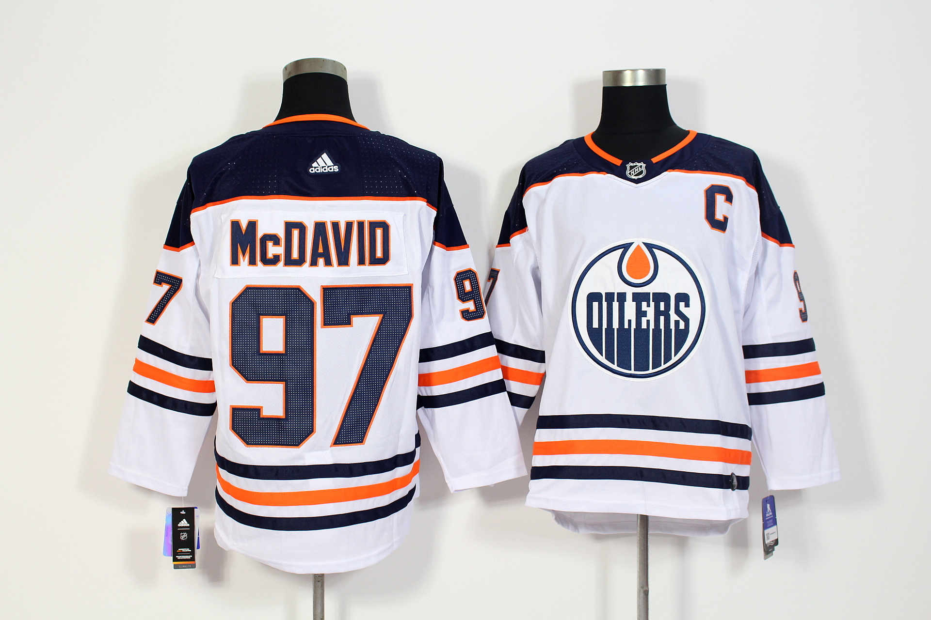 Men's Adidas Edmonton Oilers #97 Connor McDavid White Stitched NHL Jersey