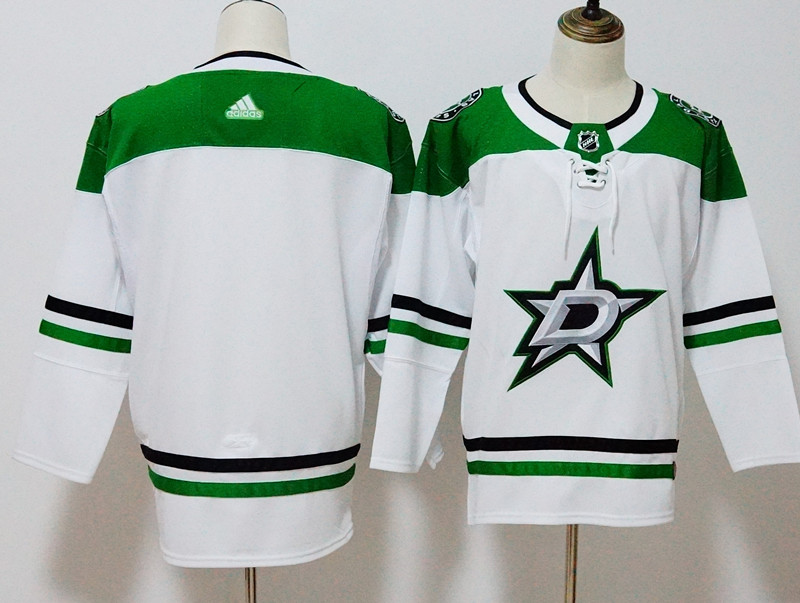 Men's Adidas Dallas Stars White Stitched NHL Jersey