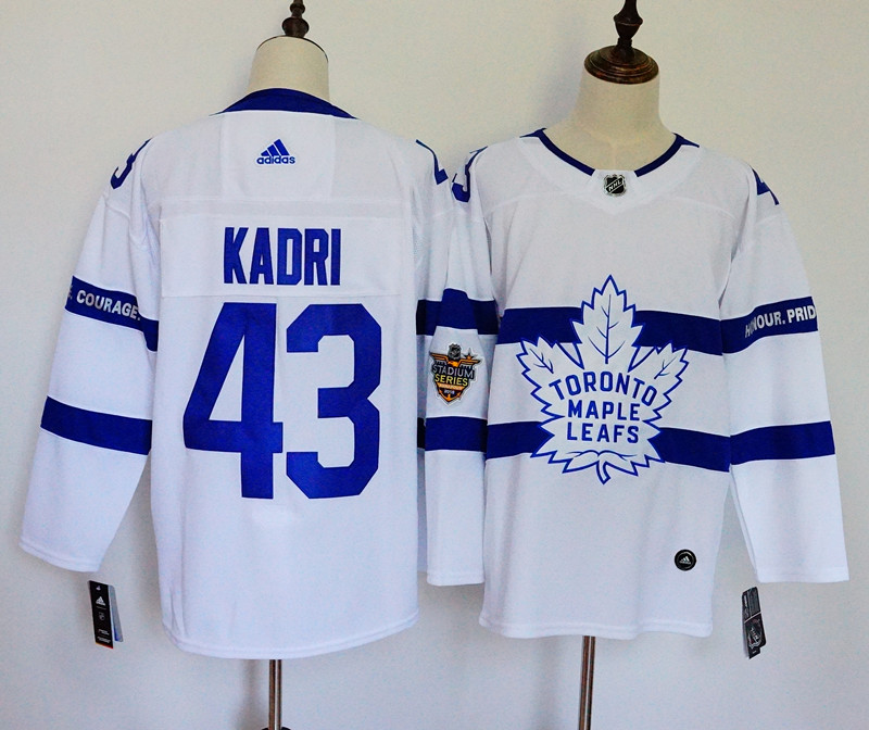 Men's Adidas Toronto Maple Leafs #43 Nazem Kadri White 2018 NHL Stadium Series Stitched NHL Jersey