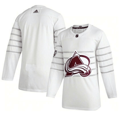 Men's Colorado Avalanche Blank White All Star Stitched NHL Jersey