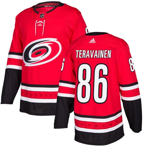 Men's Carolina Hurricanes #86 Teuvo Teravainen Red Stitched NHL Jersey