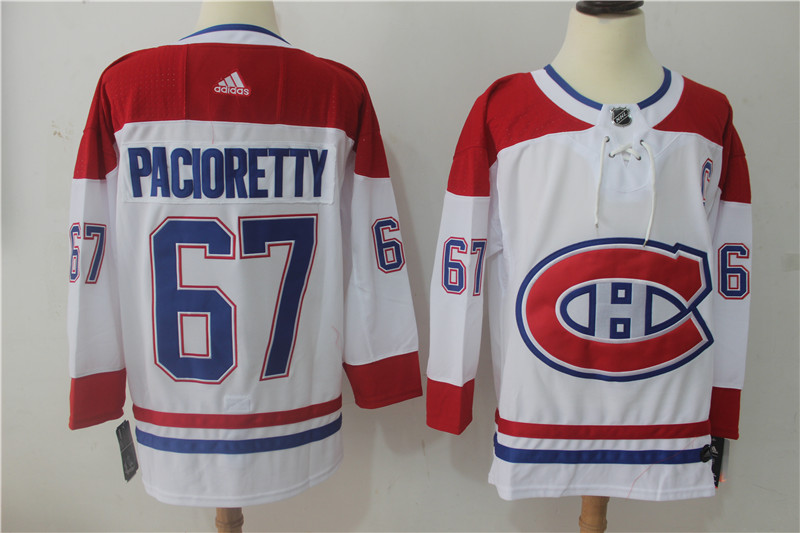Men's Adidas Montreal Canadiens #67 Max Pacioretty White Stitched NHL Jersey