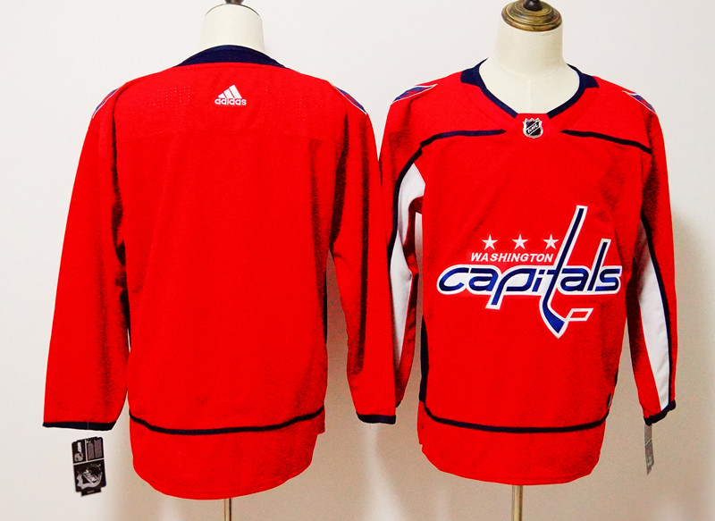 Men's Adidas Washington Capitals Red Stitched NHL Jersey