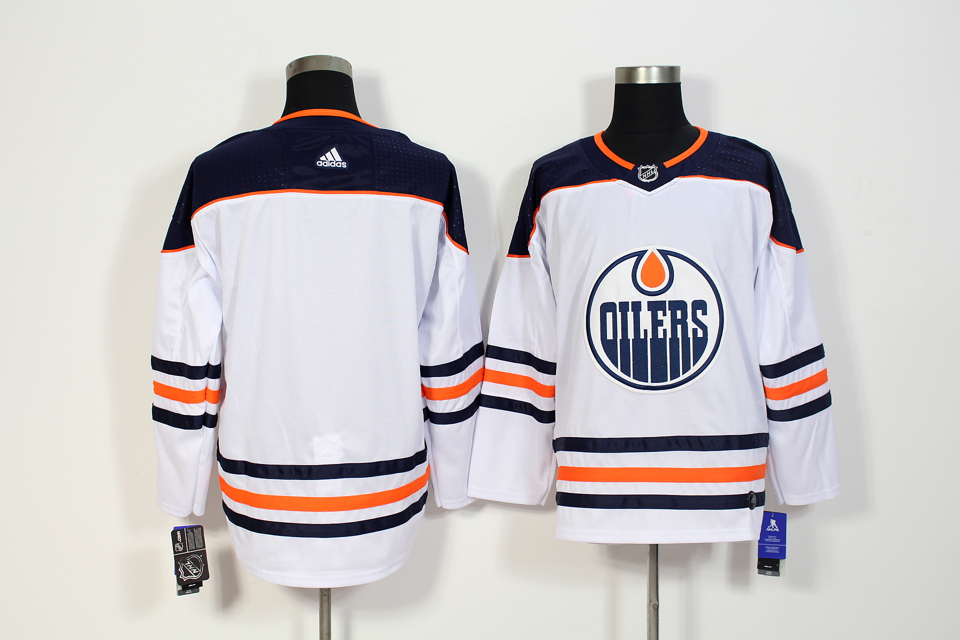 Men's Adidas Edmonton Oilers White Stitched NHL Jersey