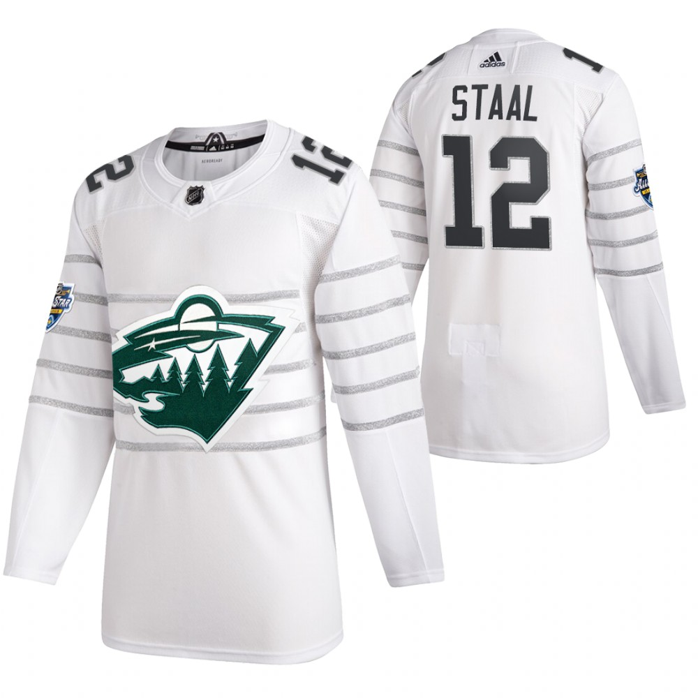 Men's Minnesota Wild #12 Eric Staal 2020 White All Star Stitched NHL Jersey