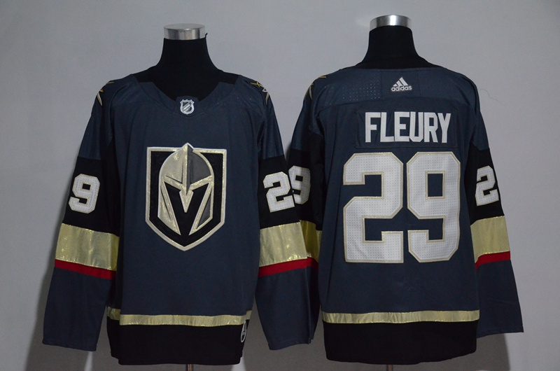 Men's Vegas Golden Knights #29 Marc-Andre Fleury Gray Adidas Stitched NHL Jersey