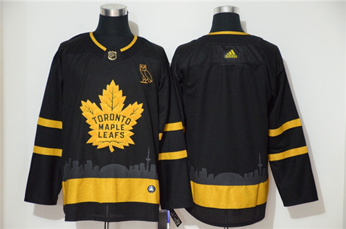 Men's Toronto Maple Leafs Black Golden City Edition Stitched NHL Jersey